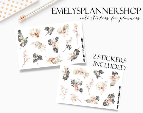 Summer Flowers Sticker Set 2994