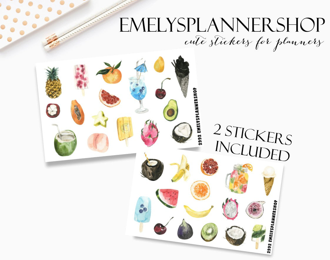 Summer Fruits Sticker Set 2992