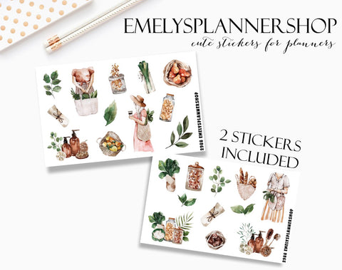 Zero Waste Sticker Set 2988