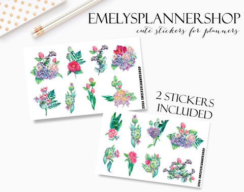 Greenery Set Planner Stickers 2984