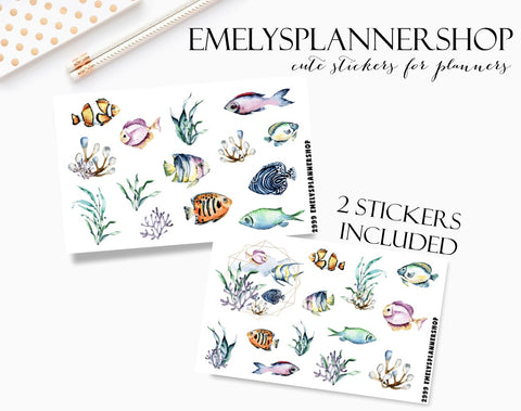 Sea Underwater Planner Sticker Set 2999