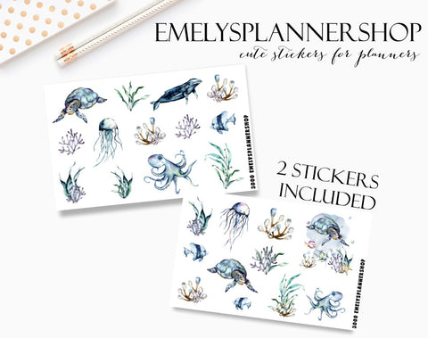 Underwater Sea Planner Sticker Set 3000