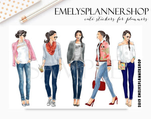 Fashion Girls Stickers 2819