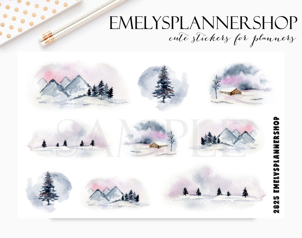 Winter Landscapes Stickers 2825