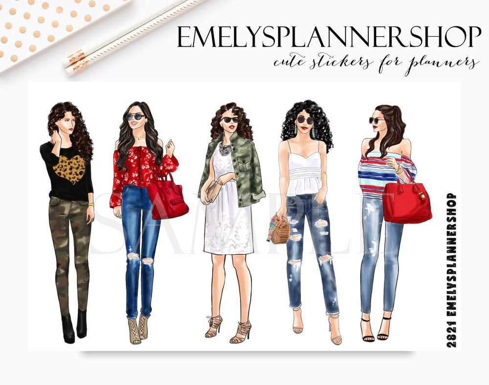 Fashion Girls Stickers 2821