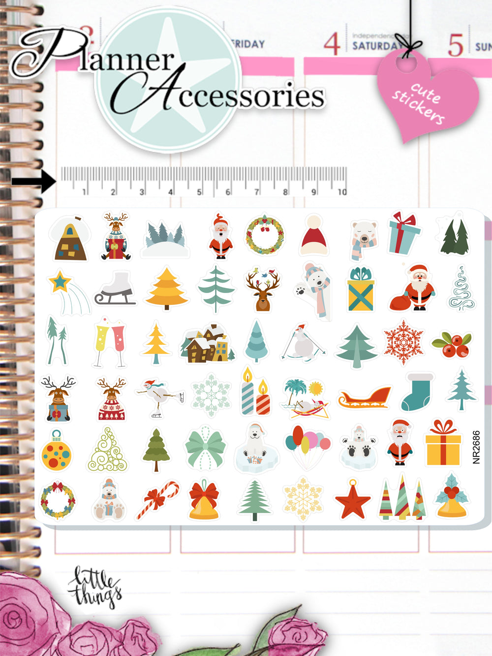 Christmas Stickers - Holiday Sticker NR2686