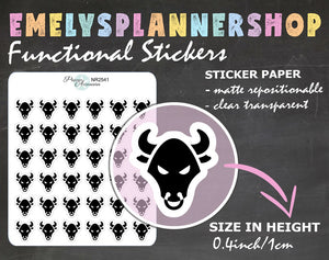 Bull Planner Stickers 2541