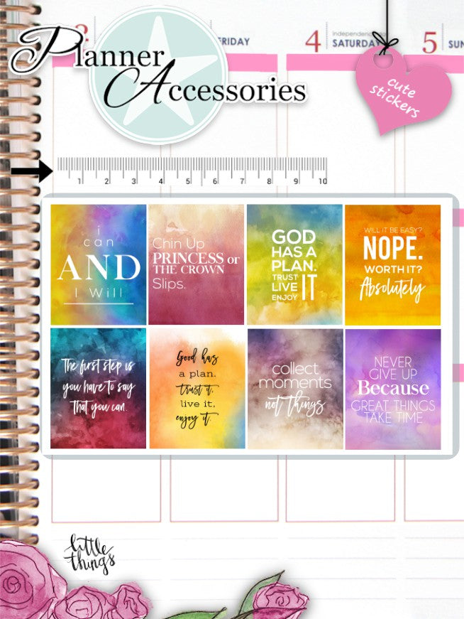 Watercolor Quote Stickers 2605