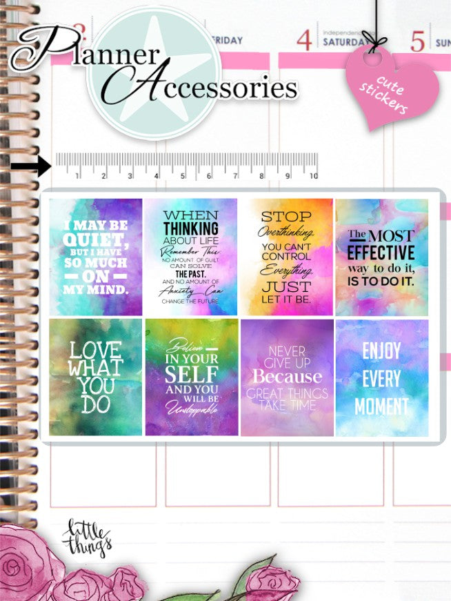 Watercolor Quote Stickers 2604