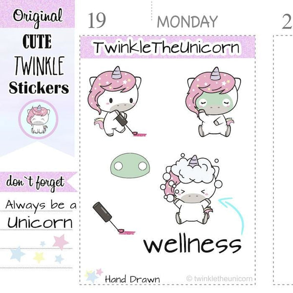 A004 | kawaii unicorn stickers TwinkleTheUnicorn
