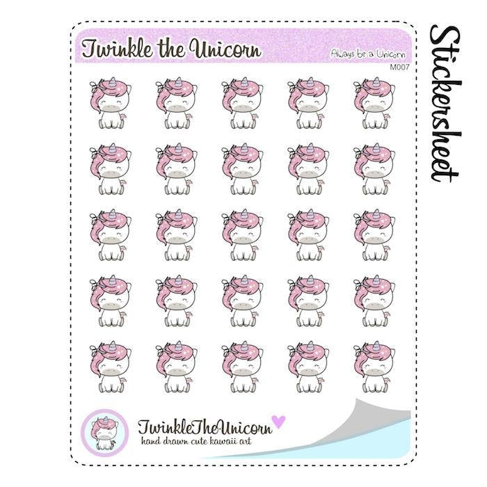 A007 | cut hair stickers TwinkleTheUnicorn
