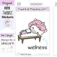 A008 | me time stickers TwinkleTheUnicorn