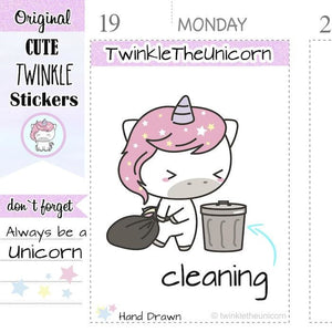 A013 | garbage stickers TwinkleTheUnicorn