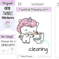 A014 | toilet stickers TwinkleTheUnicorn