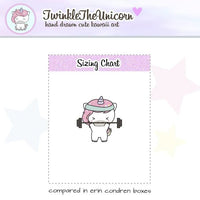 A030 | unicorn weights planner stickers TwinkleTheUnicorn
