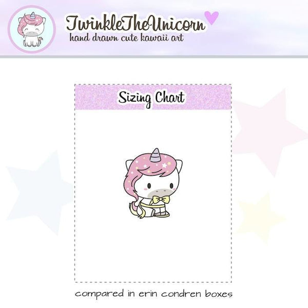 A035 | birthday planner stickers TwinkleTheUnicorn