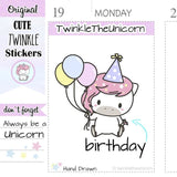 A037 | Birthday Cake Stickers TwinkleTheUnicorn