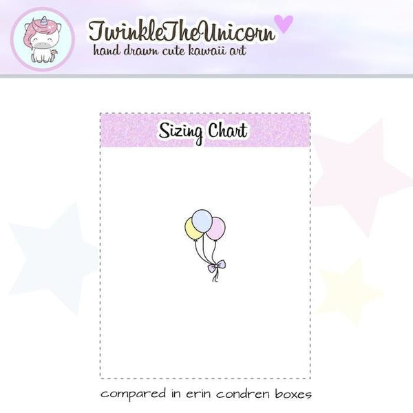 A040 | balloons stickers TwinkleTheUnicorn