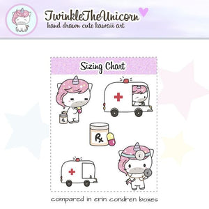 A042 | unicorn doctor planner stickers TwinkleTheUnicorn
