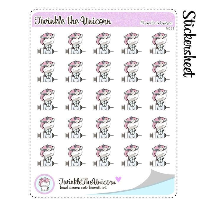A051 | doctor planner stickers TwinkleTheUnicorn