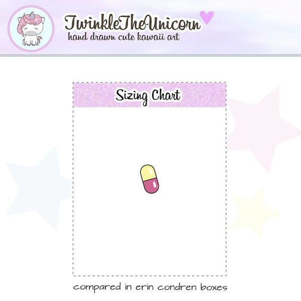 A055 | pills stickers doctor stickers TwinkleTheUnicorn