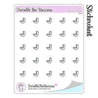 A062 | toilette stickers TwinkleTheUnicorn