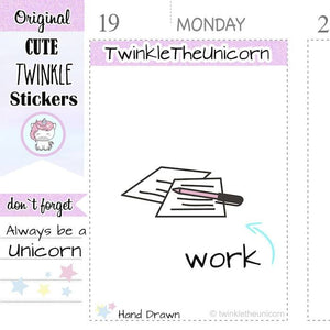 A064 | to do stickers TwinkleTheUnicorn