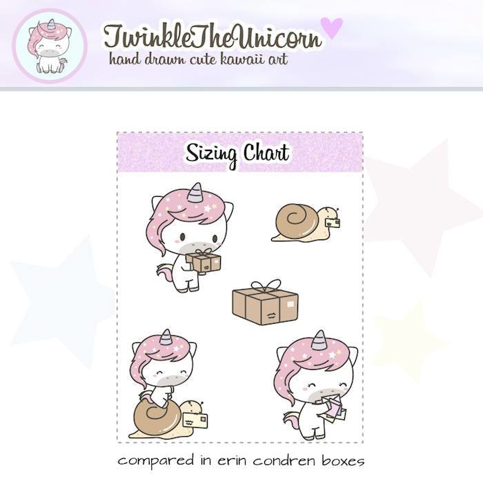 A066 | happy mail stickers TwinkleTheUnicorn