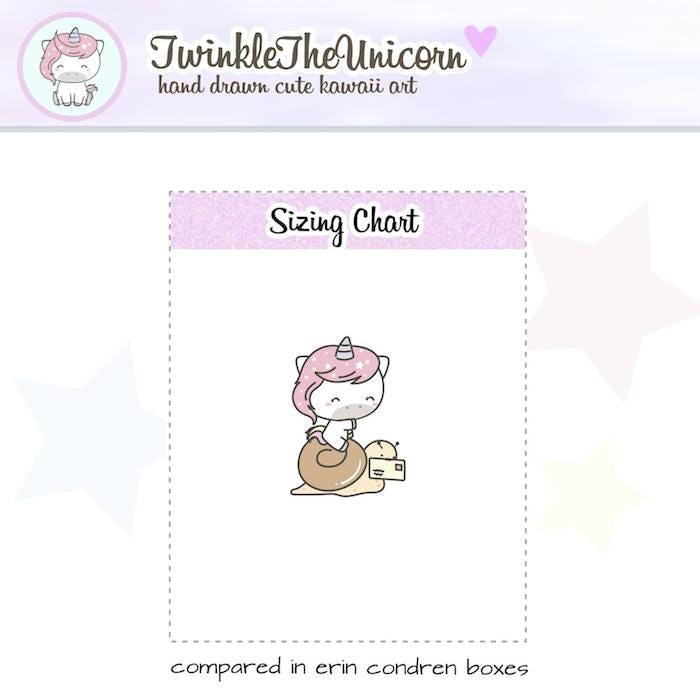 A070 | happy mail stickers TwinkleTheUnicorn