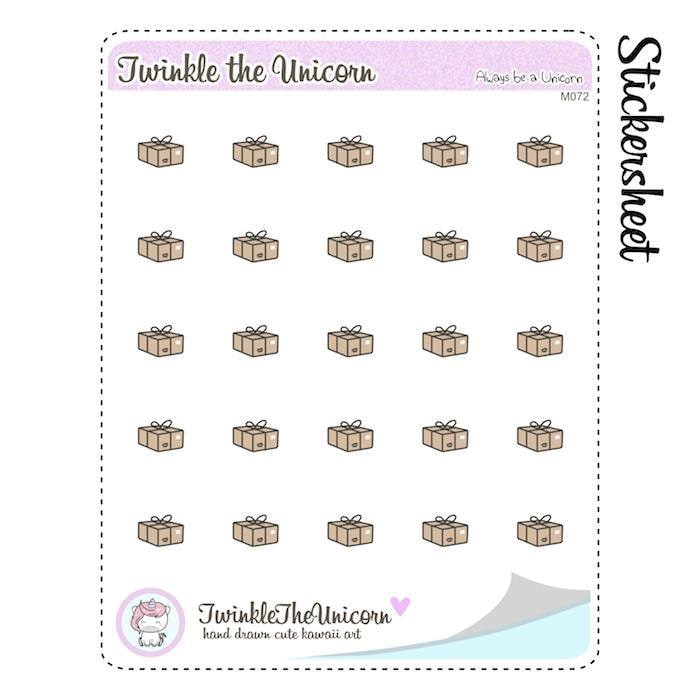 A072 | happy mail planner stickers TwinkleTheUnicorn
