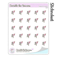 A075 | happy mail planner stickers TwinkleTheUnicorn