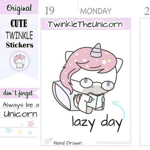 A078 | reading stickers TwinkleTheUnicorn