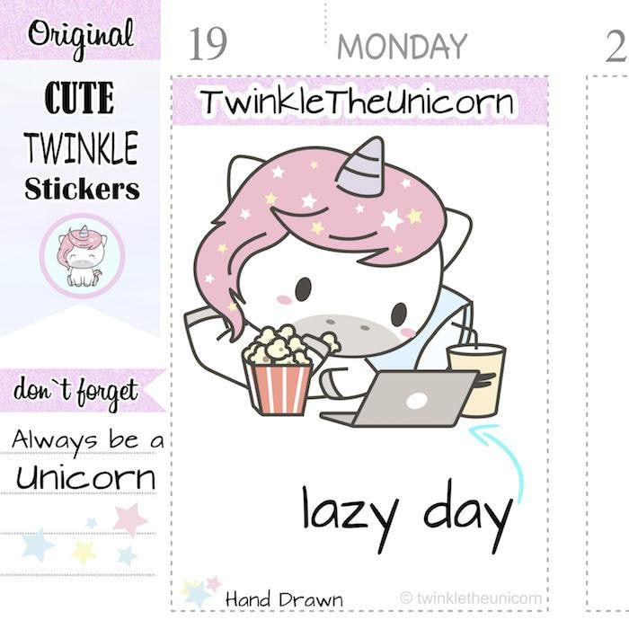 A079 | computer stickers TwinkleTheUnicorn