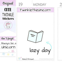 A081 | reading planner stickers TwinkleTheUnicorn