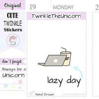 A082 | laptop stickers TwinkleTheUnicorn