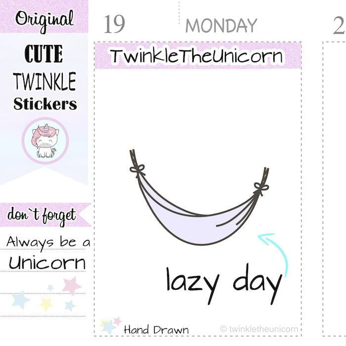A086 | chilling stickers TwinkleTheUnicorn
