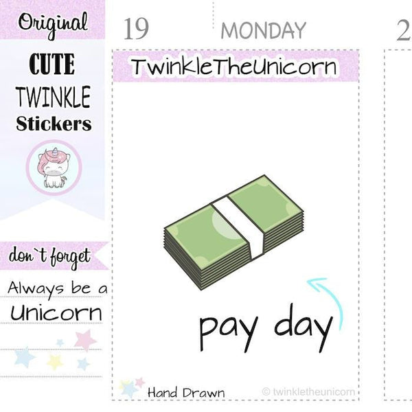 A097 | dollar stickers TwinkleTheUnicorn