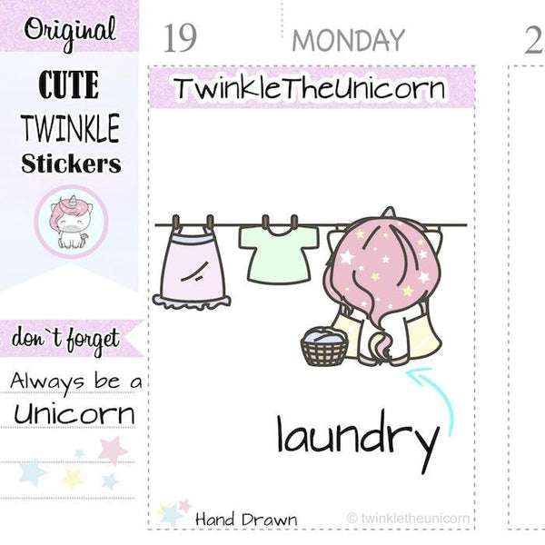 A108 | laundry stickers TwinkleTheUnicorn