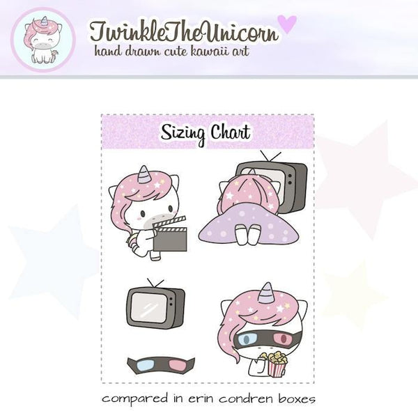 A112 | kawaii unicorn stickers TwinkleTheUnicorn