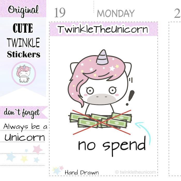 A126 | no spend stickers TwinkleTheUnicorn