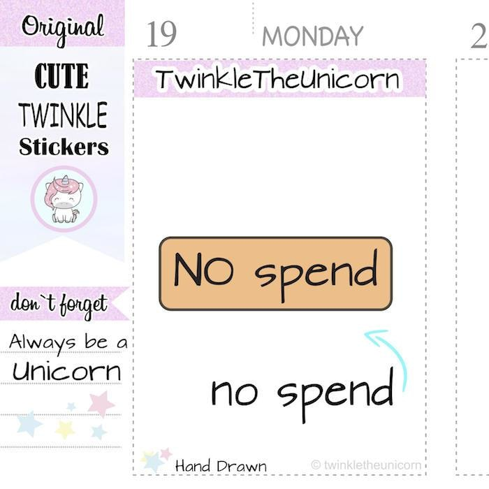 A131 | no spend stickers TwinkleTheUnicorn