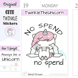 A132 | no spend stickers TwinkleTheUnicorn
