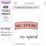 A133 | no spend stickers TwinkleTheUnicorn