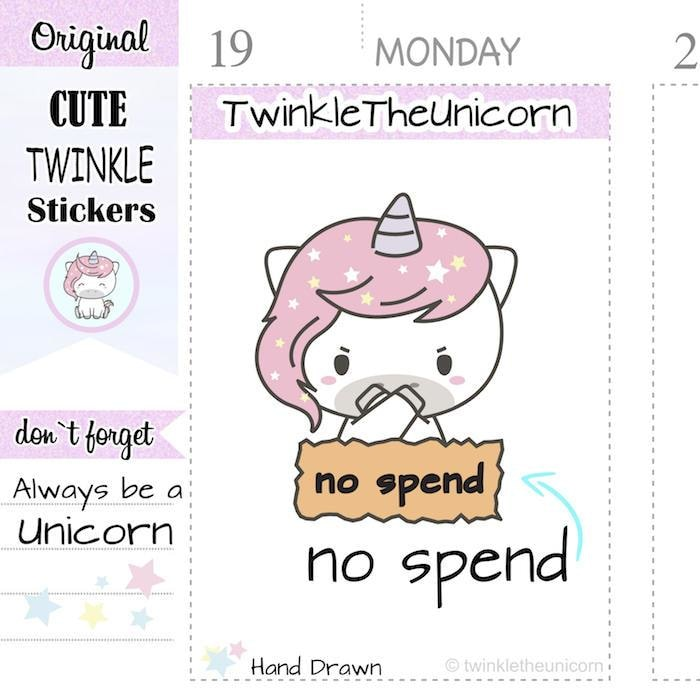 A134 | no spend stickers TwinkleTheUnicorn