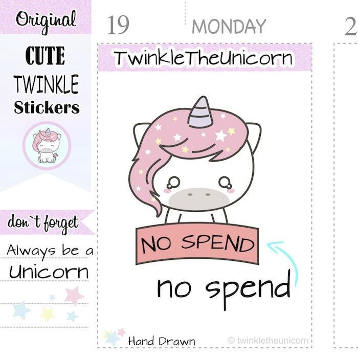 A135 | no spend stickers TwinkleTheUnicorn