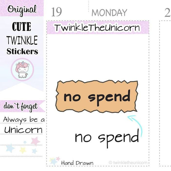 A136 | no spend stickers TwinkleTheUnicorn