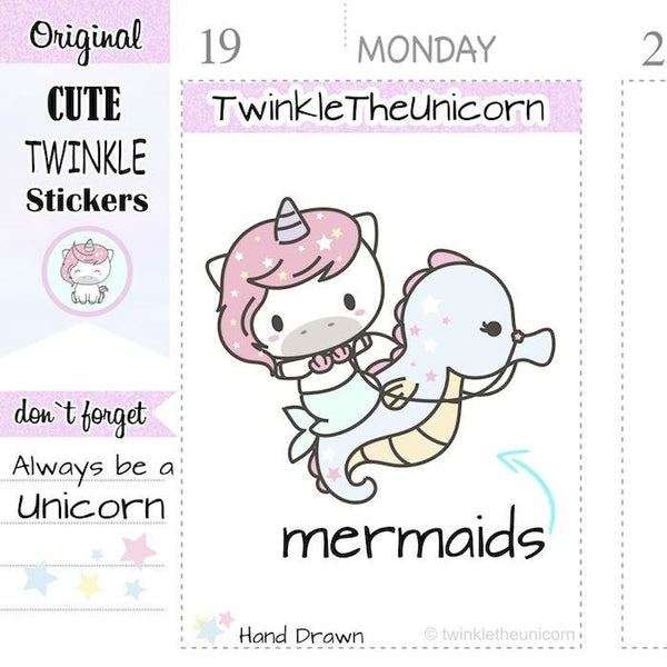 A138 | mermaid stickers TwinkleTheUnicorn