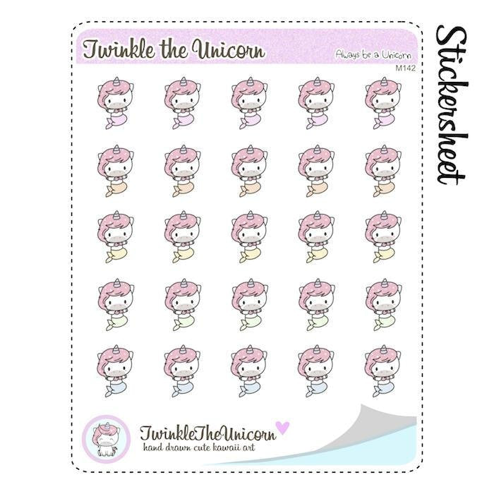 A142 | mermaid stickers TwinkleTheUnicorn