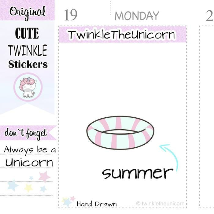 A147 | pool stickers TwinkleTheUnicorn
