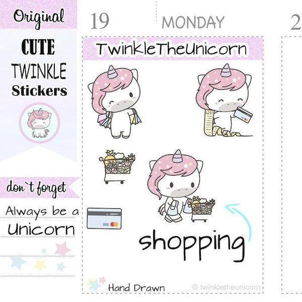 A149 | shopping stickers TwinkleTheUnicorn